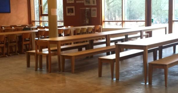Neue Mensa-Möbel, Rudolf Steiner Schule Dietzenbach, 2015